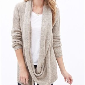 🌿 Forever 21 Infinity Scarf Cardigan